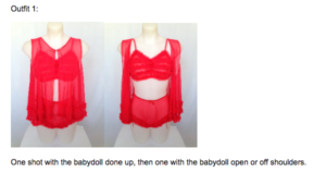 My Retro Closet detailed instructions for garment photography photoshoot